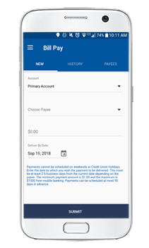 SeaComm Mobile Branch Bill Pay